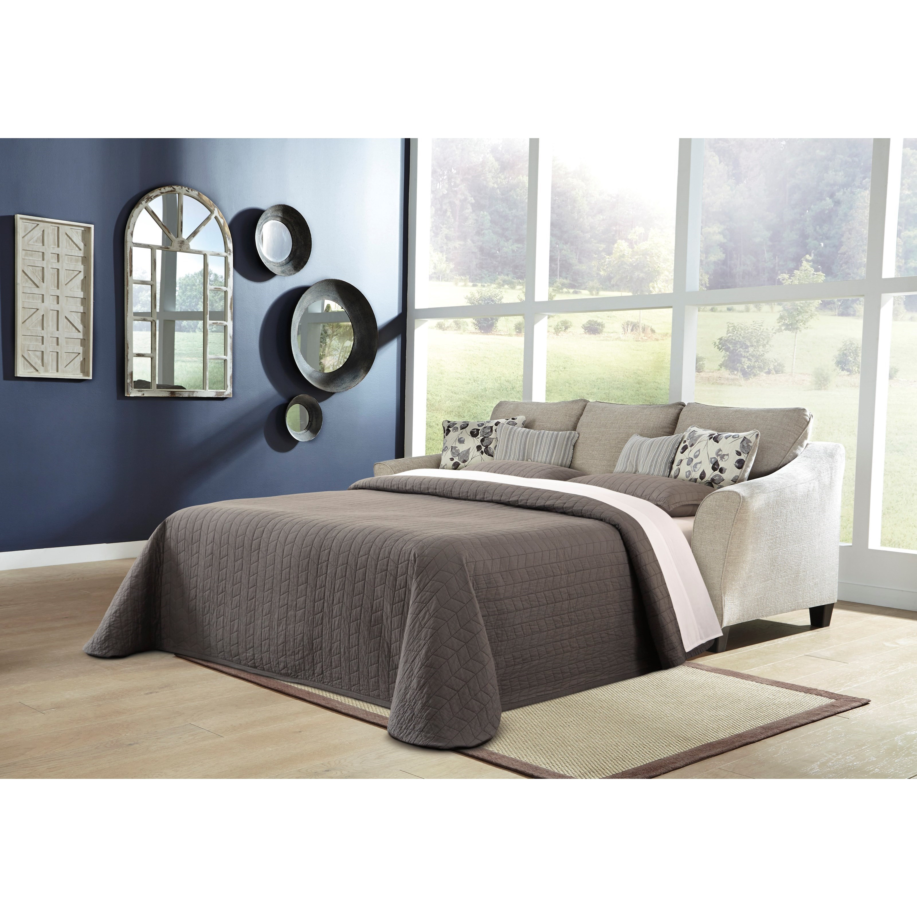 Benchcraft Abney 4970168 Sofa Chaise With Queen Sleeper