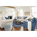 Benchcraft Adderbury Queen Sofa Sleeper with Rolled Arms & Memory Foam Mattress