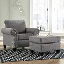 Signature Design By Ashley Agleno Chair and Ottoman - Item Number: 7870120+14
