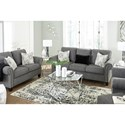 Benchcraft Agleno Contemporary Sofa with Nailhead Trim