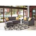 Benchcraft Aldie Nuvella Stationary Living Room Group - Item Number: 68702 Living Room Group 1