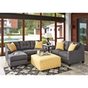 Benchcraft Aldie Nuvella Stationary Living Room Group - Item Number: 68702 Living Room Group 2