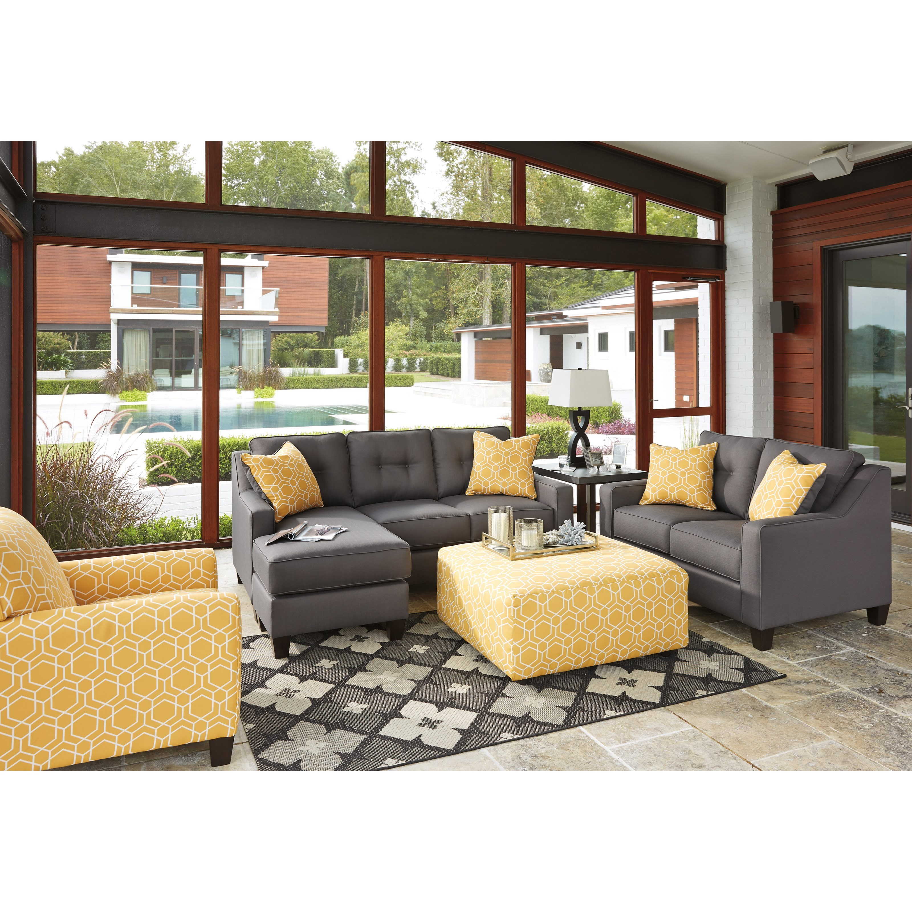 Benchcraft Aldie Nuvella Stationary Living Room Group - Item Number: 68702 Living Room Group 3