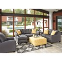 Benchcraft Aldie Nuvella Stationary Living Room Group - Item Number: 68702 Living Room Group 4