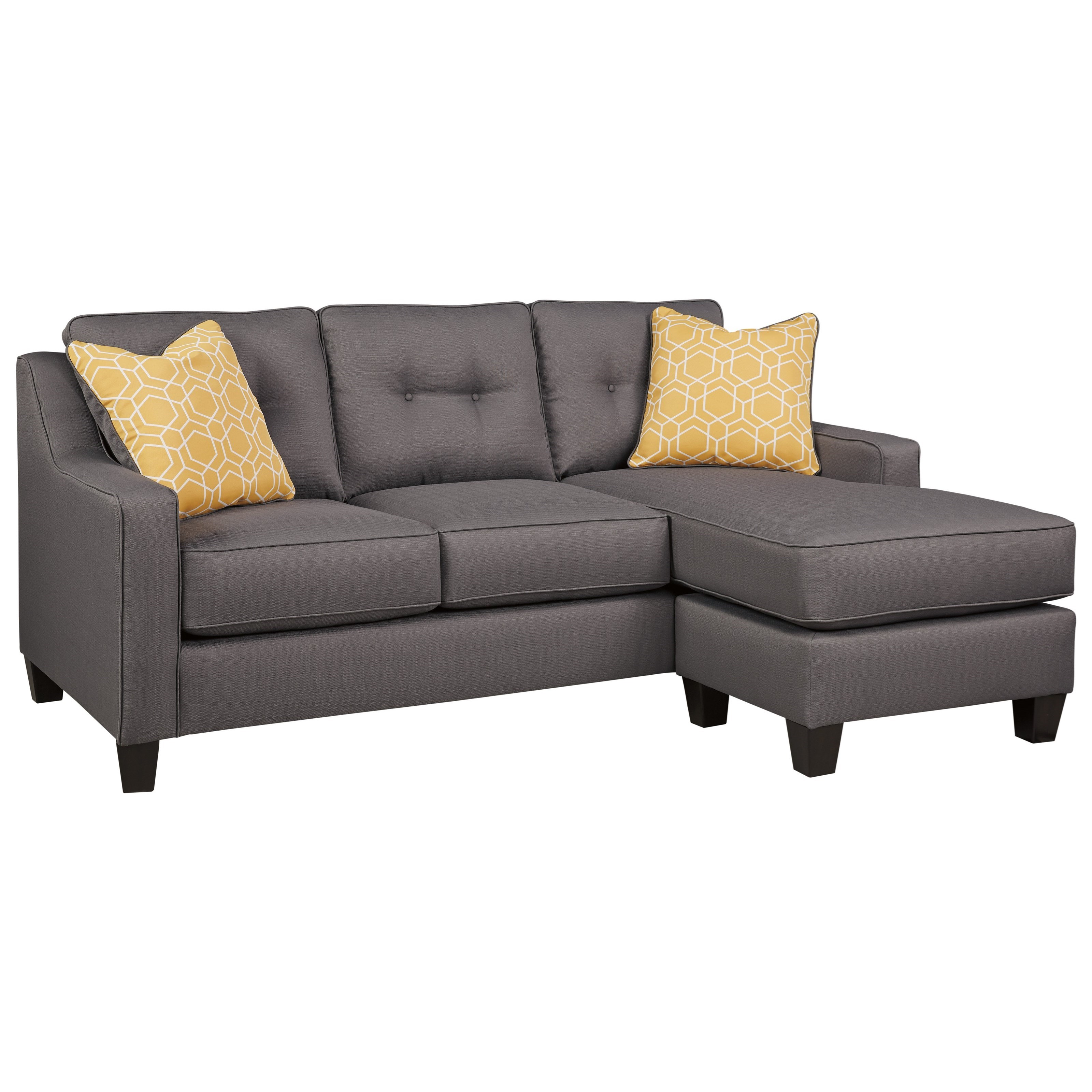 Benchcraft Aldie Nuvella Queen Sofa Chaise Sleeper - Item Number 6870268  sc 1 st  Wayside Furniture : chaise sleeper chair - Sectionals, Sofas & Couches