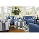 Benchcraft Aldie Nuvella Stationary Living Room Group - Item Number: 68703 Living Room Group 1