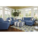 Benchcraft Aldie Nuvella Stationary Living Room Group - Item Number: 68703 Living Room Group 4