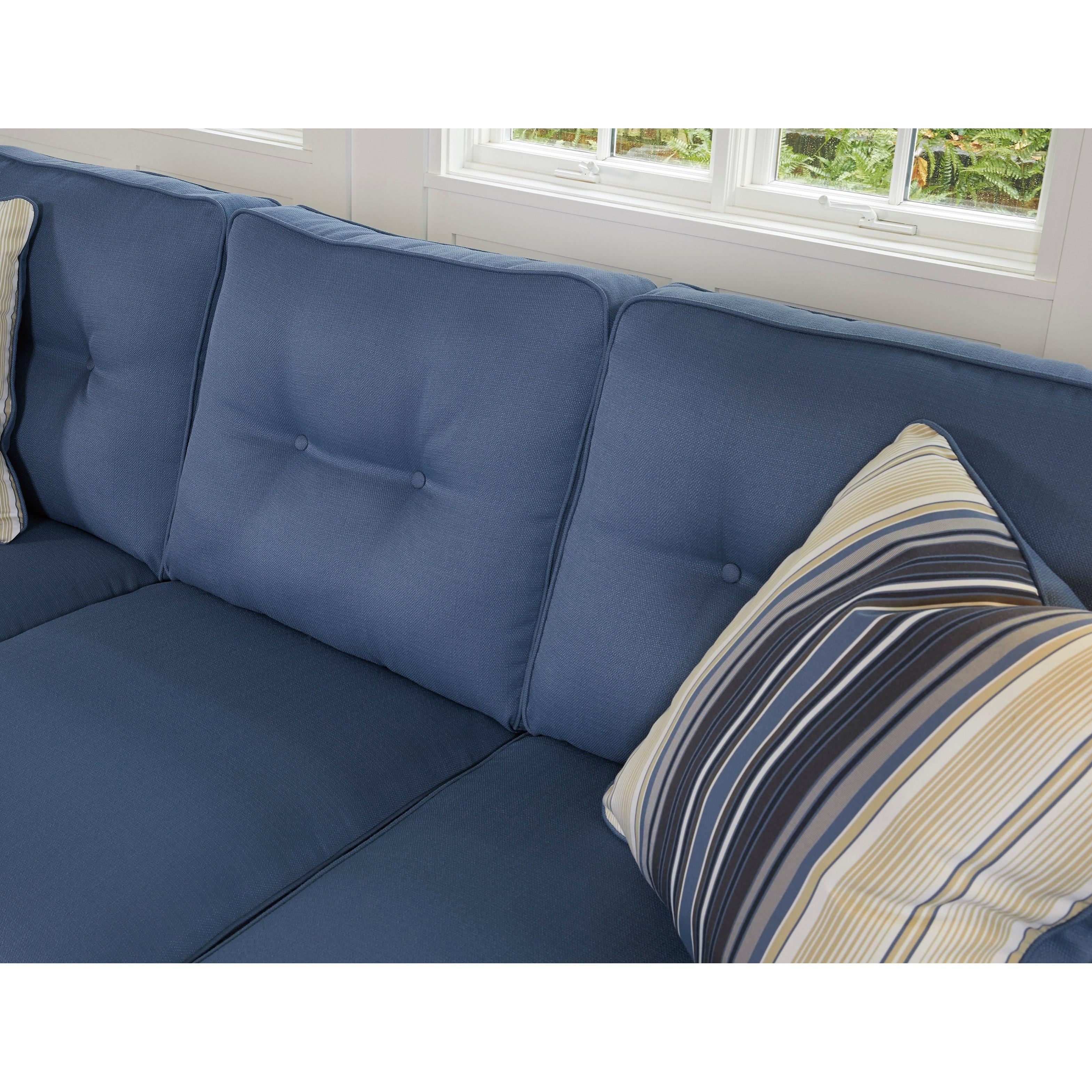 Benchcraft Aldie Nuvella 6870368 Queen Sofa Chaise Sleeper