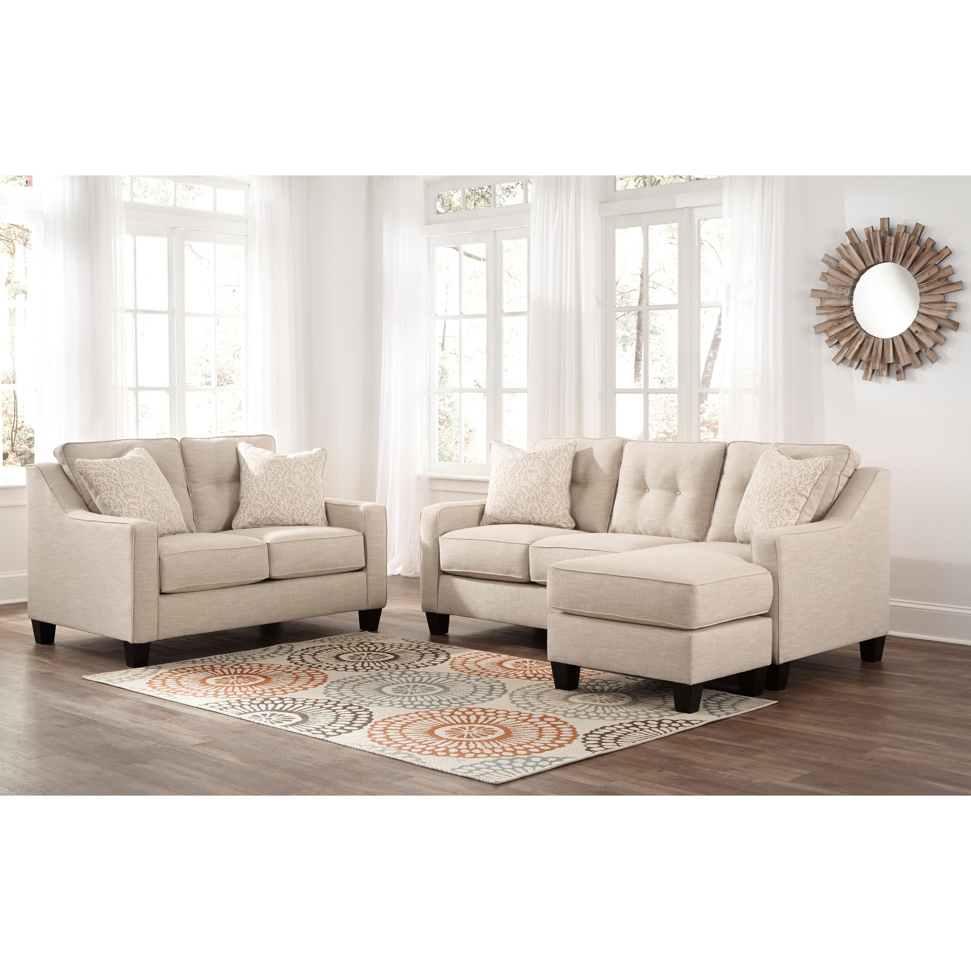 Benchcraft Aldie Nuvella Stationary Living Room Group - Item Number: 68705 Living Room Group 1