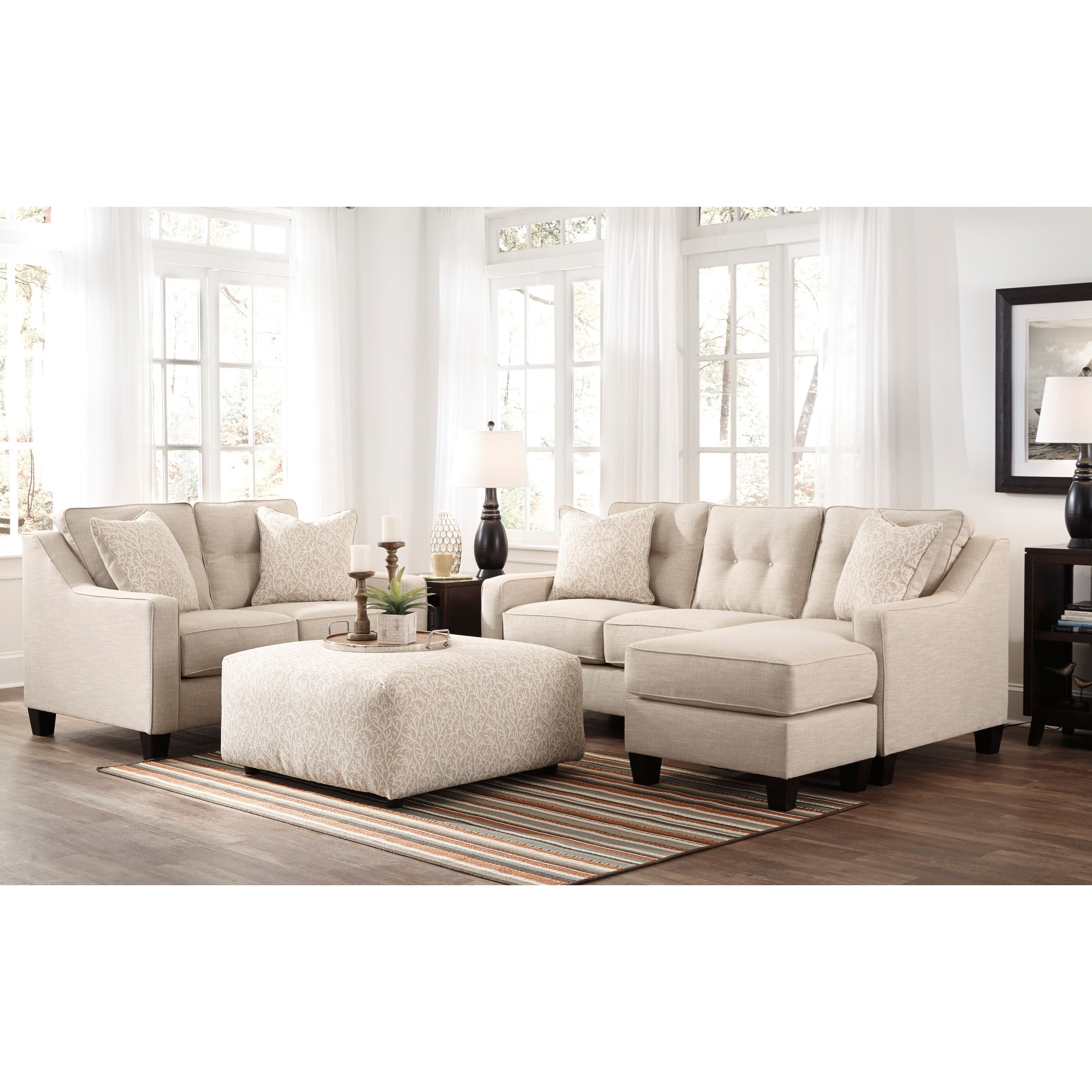 Benchcraft Aldie Nuvella Stationary Living Room Group - Item Number: 68705 Living Room Group 2