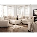 Benchcraft Aldie Nuvella Stationary Living Room Group - Item Number: 68705 Living Room Group 5