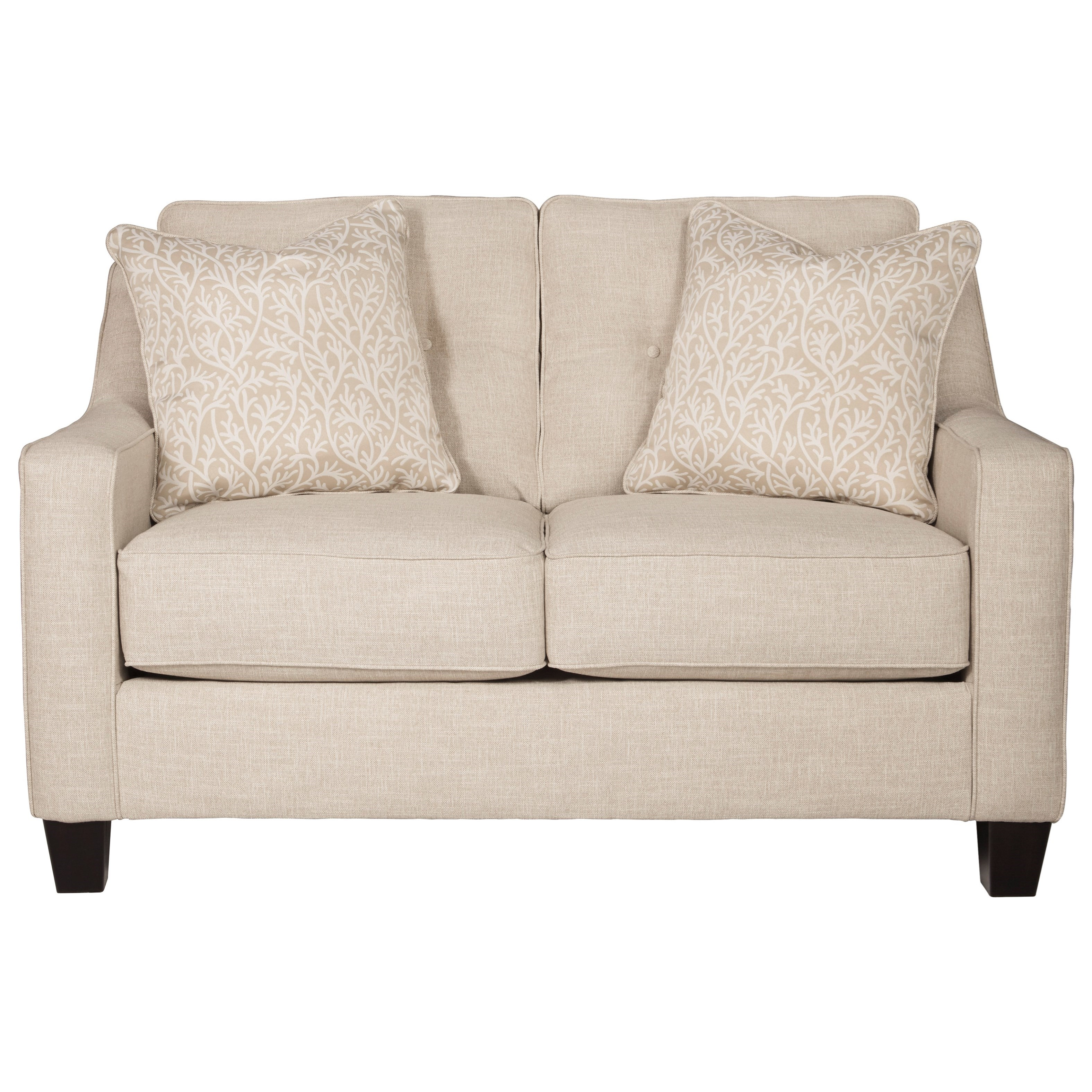 Benchcraft Aldie Nuvella Loveseat - Item Number: 6870535