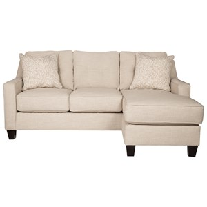 Benchcraft Aldie Nuvella Queen Sofa Chaise Sleeper