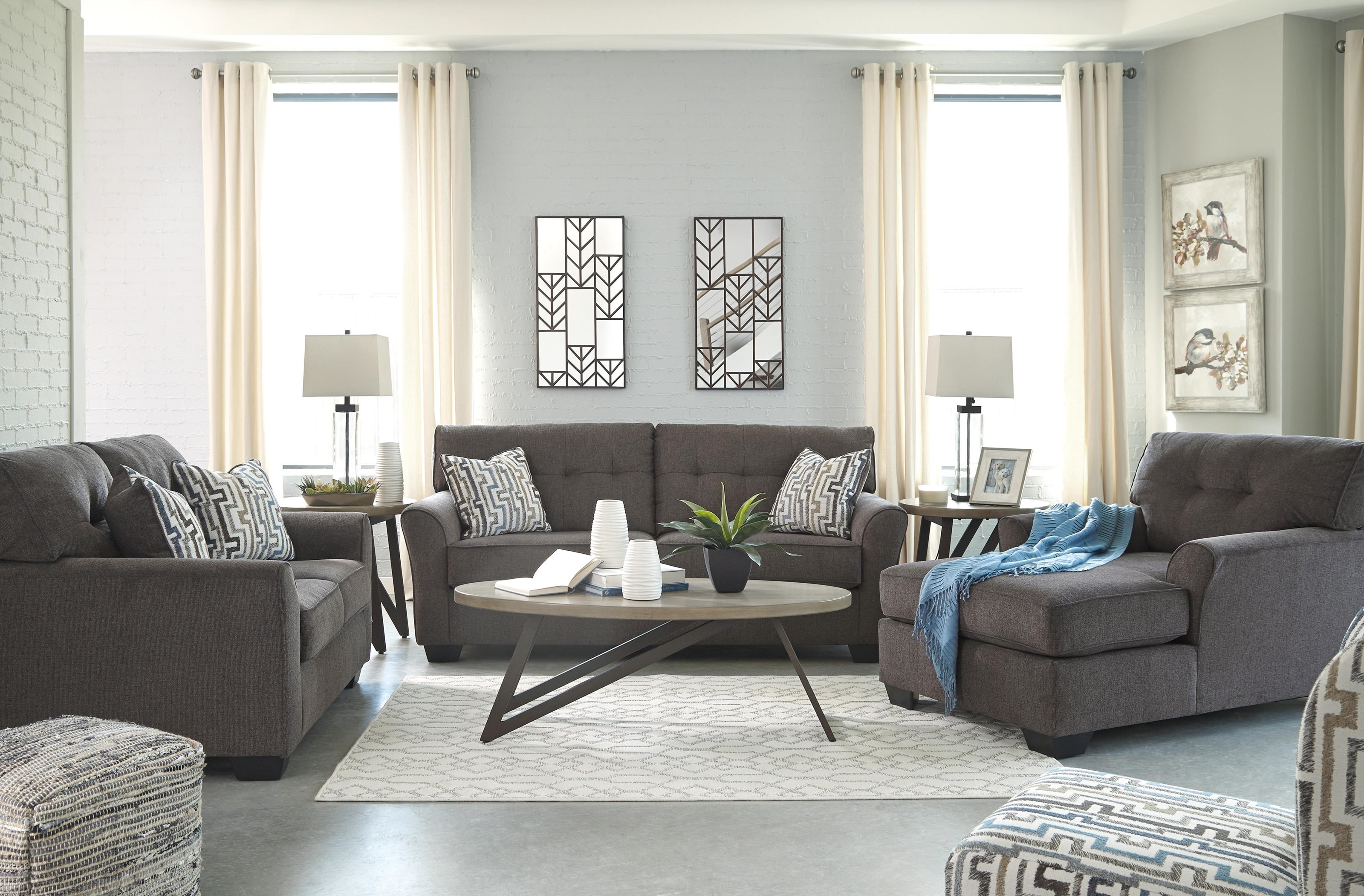 Sofa, Loveseat, Chaise and Accent Chair Set