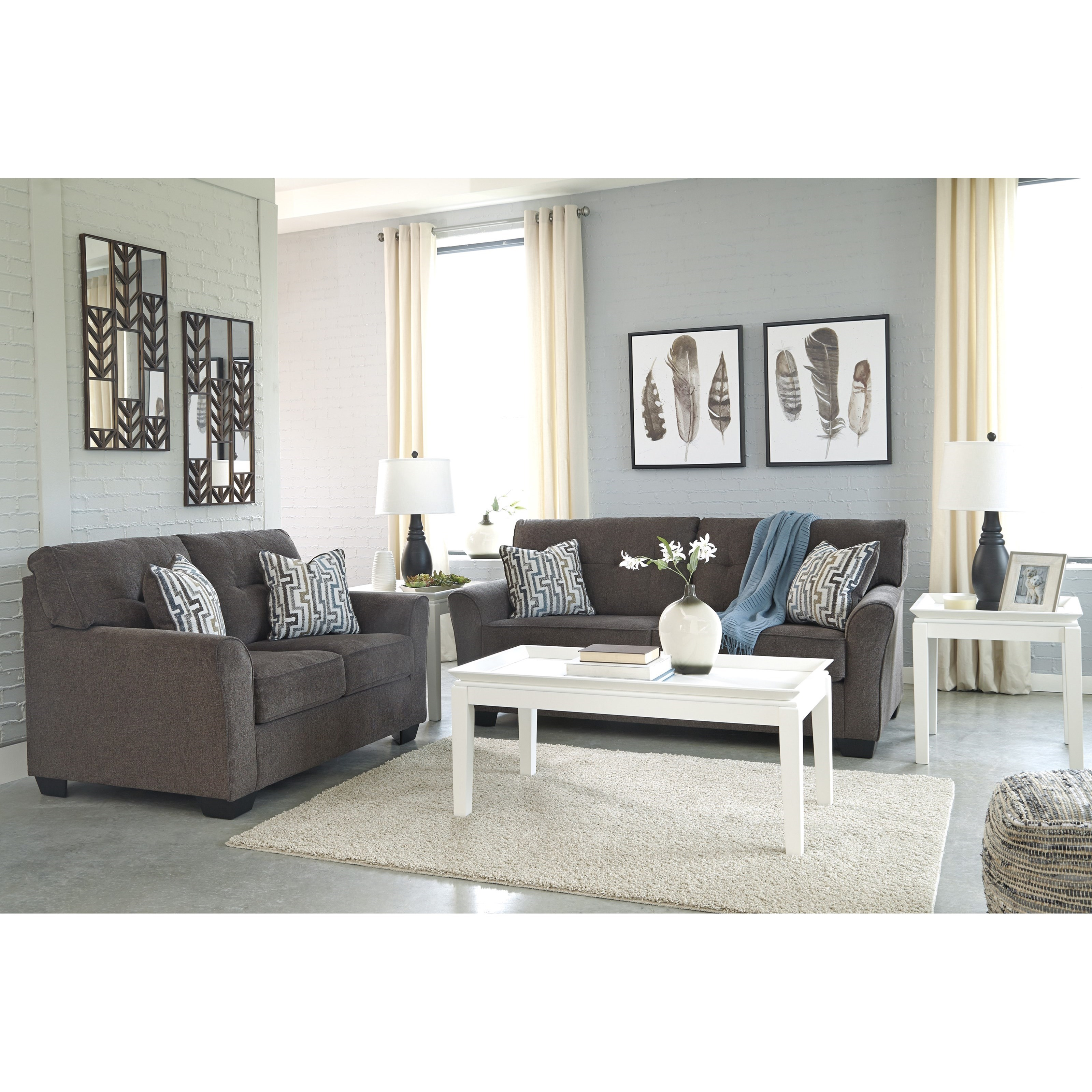 Ashley Furniture Calion Stationary Living Room Group: Signature Design By Ashley Alsen Stationary Living Room
