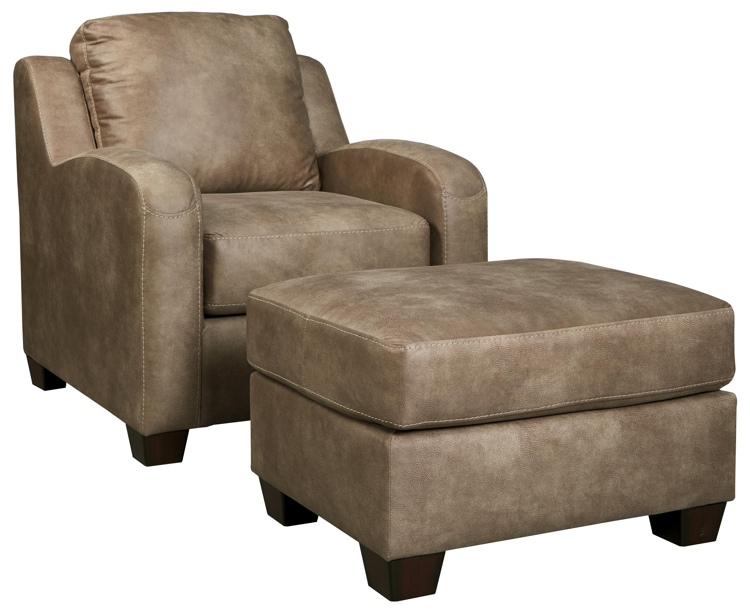Benchcraft Alturo Chair & Ottoman - Item Number: 6000320+14