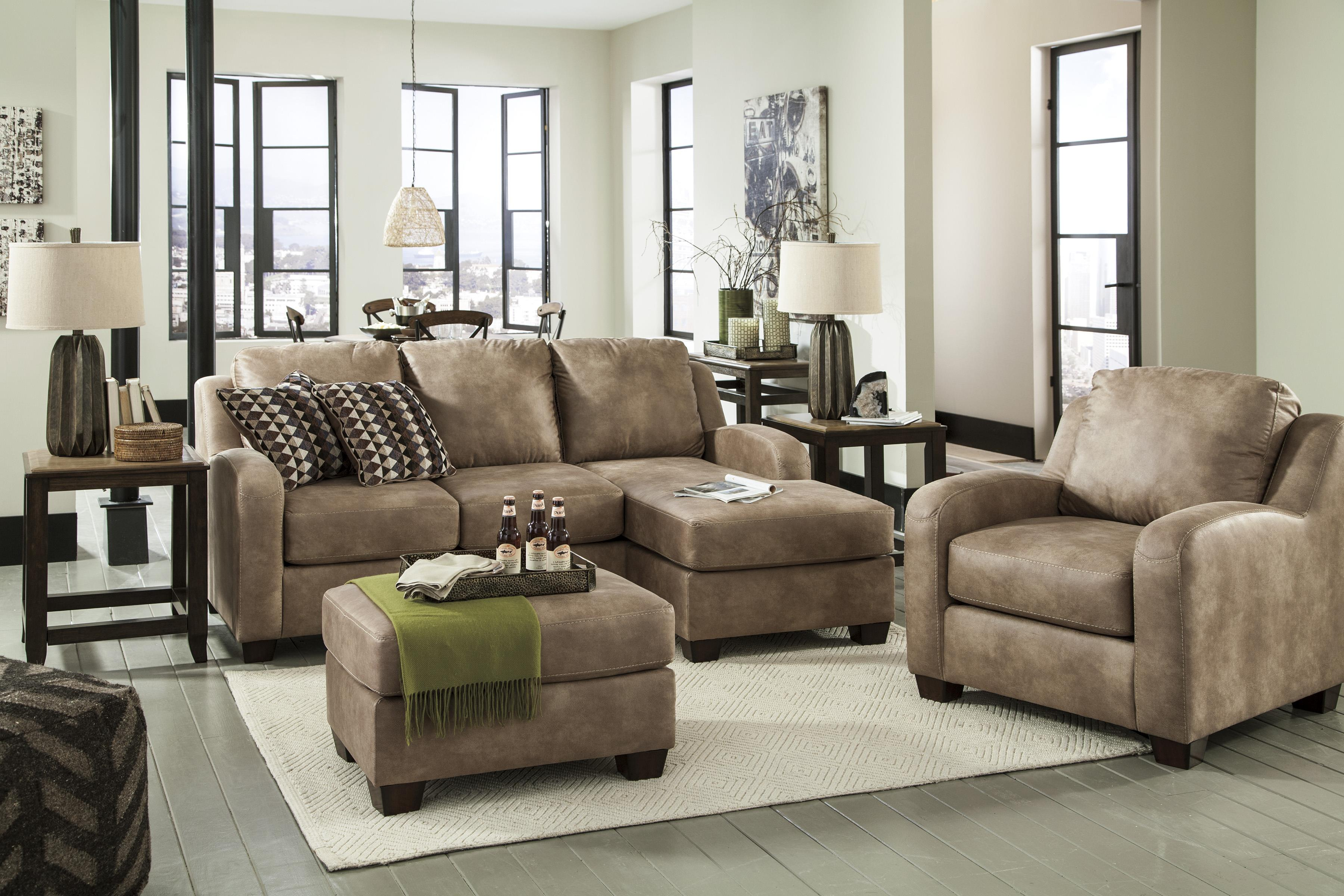 Benchcraft alturo queen sofa chaise sleeper with memory - Apartment sofa with chaise ...