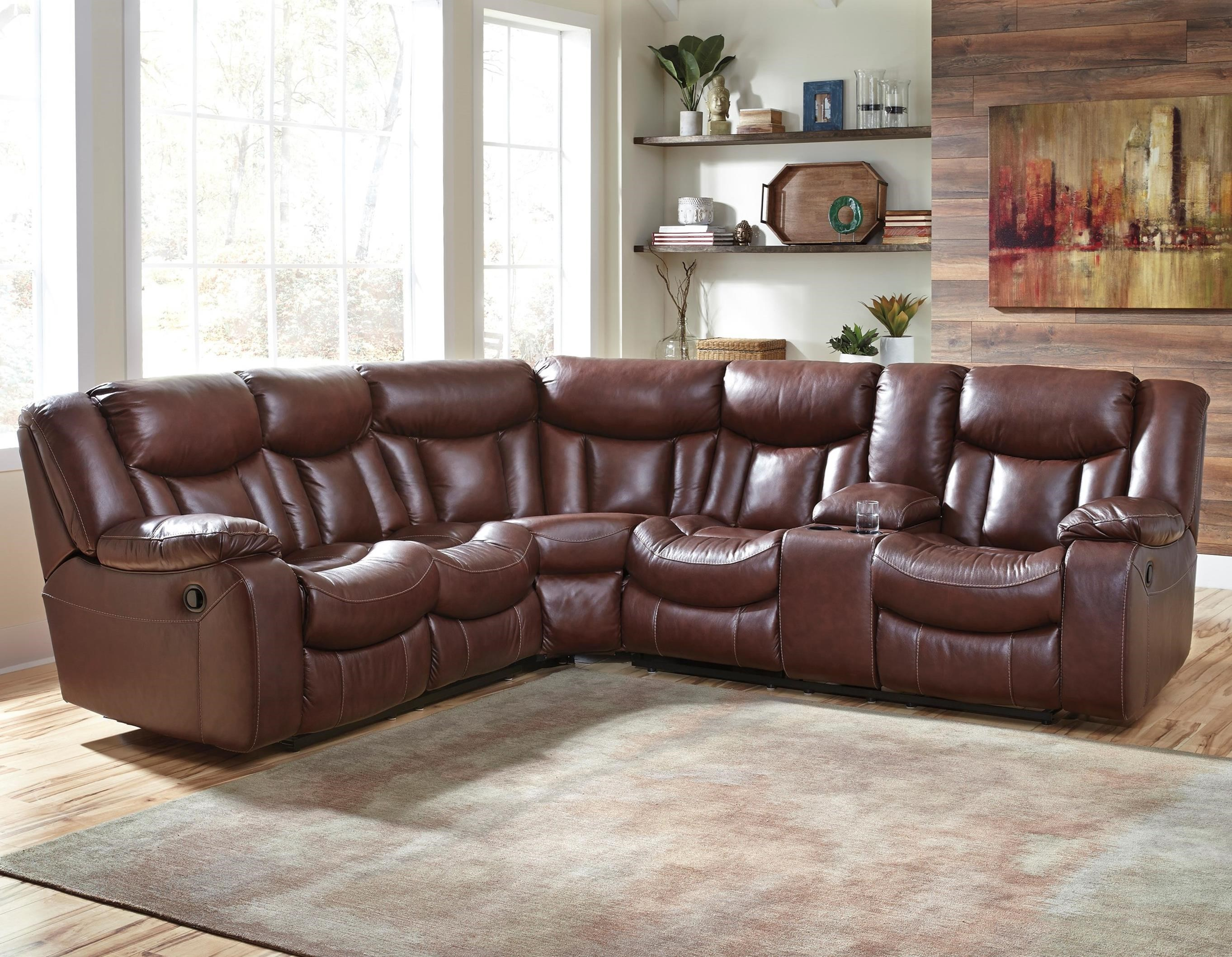 Benchcraft Amaroo 2-Piece Reclining Sectional  - Item Number: 1361048+49