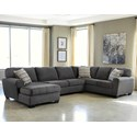 Signature Design By Ashley Ambee 3-Piece Sectional with Chaise - Item Number: 28620S1