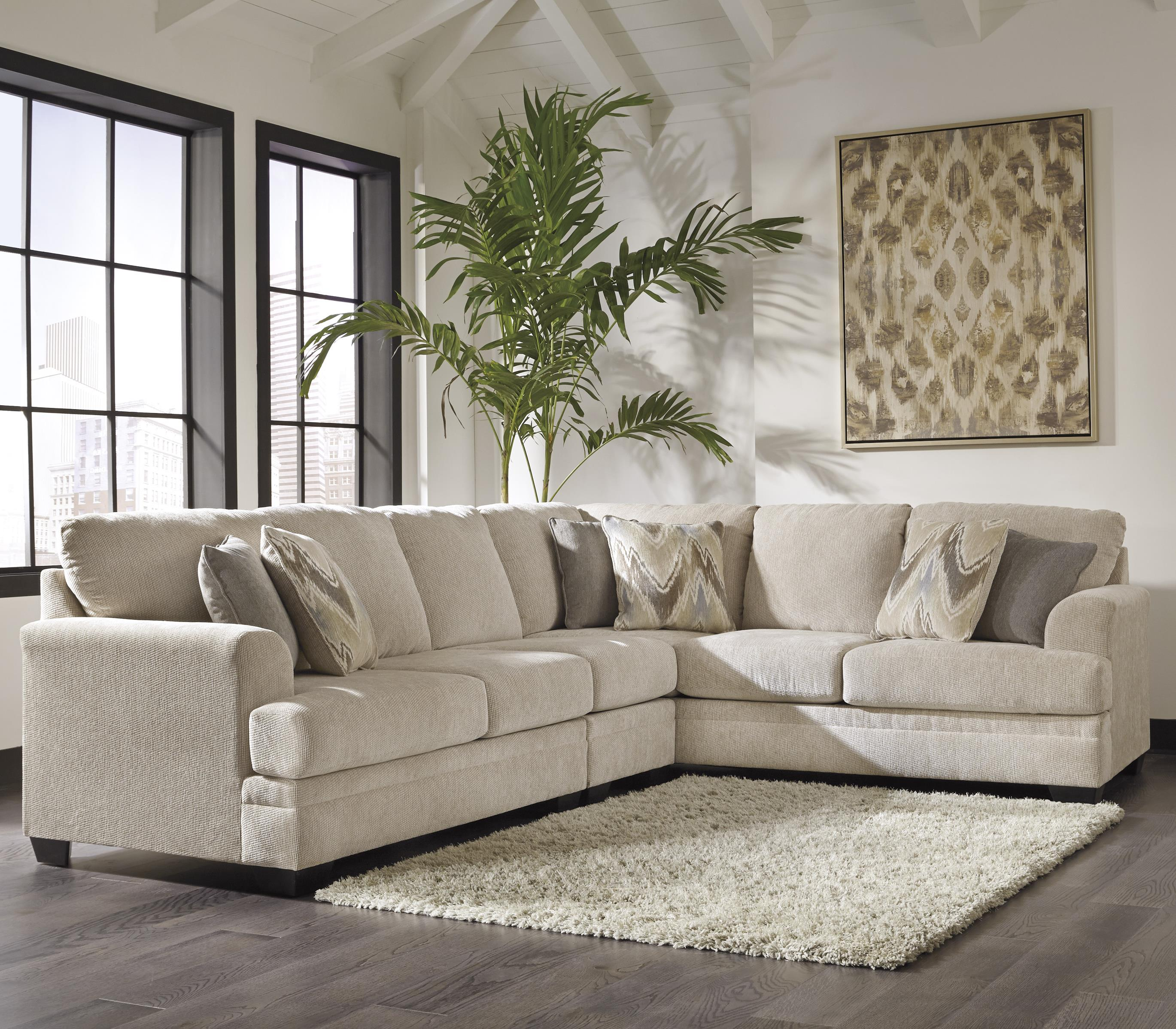 Benchcraft Ameer 3-Piece Sectional - Item Number: 8180655+46+67