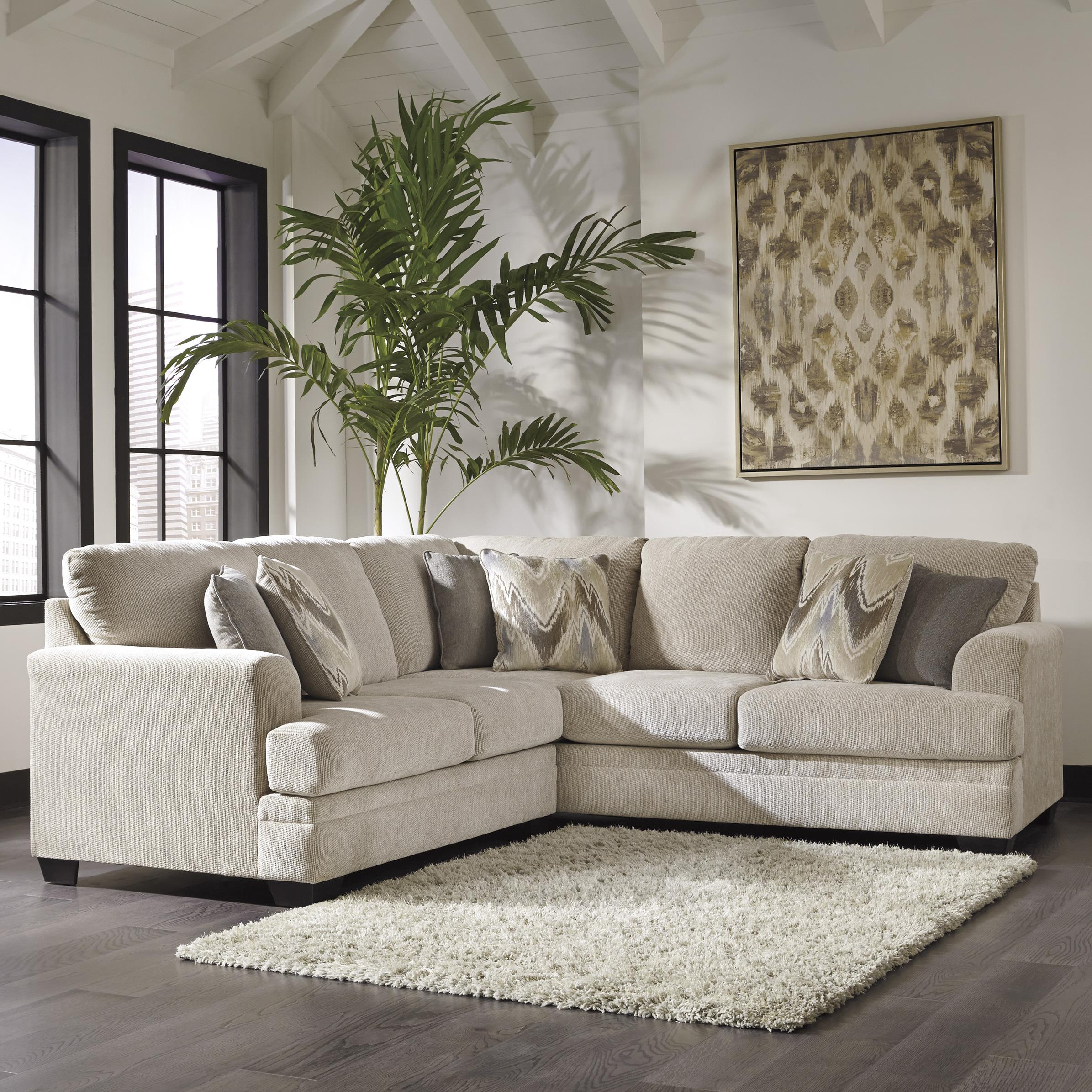 Benchcraft Ameer 2-Piece Sectional - Item Number: 8180655+67