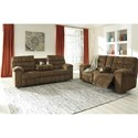 Benchcraft Antwan Reclining Living Room Group - Item Number: 48200 Living Room Group 1