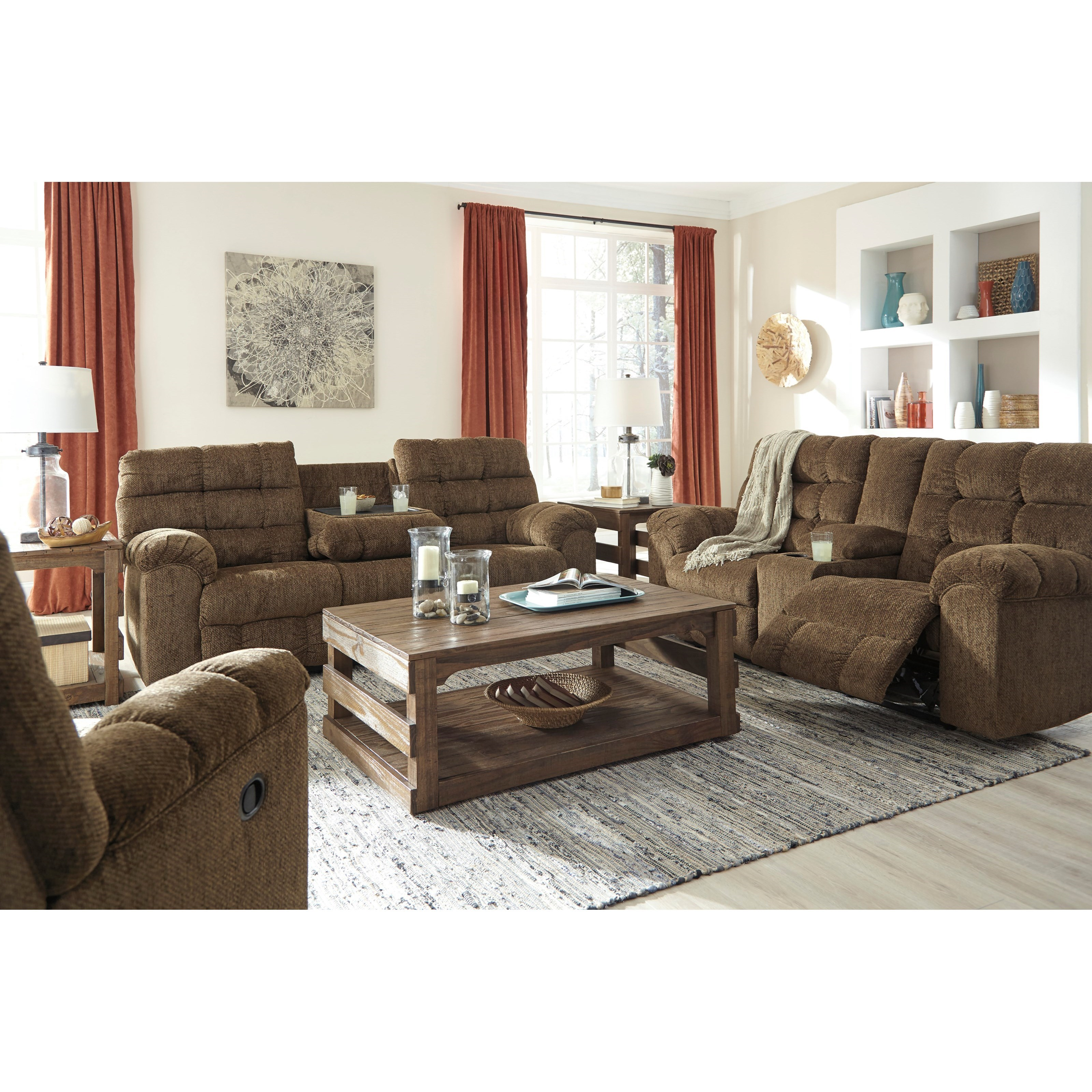 Ashley/Benchcraft Antwan Reclining Living Room Group - Item Number: 48200 Living Room Group 2