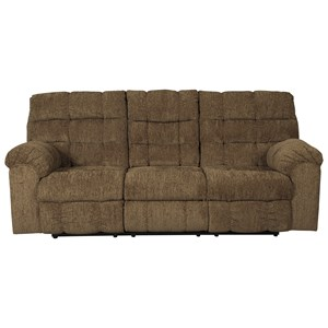 Ashley/Benchcraft Antwan Reclining Sofa w/ Drop Down Table