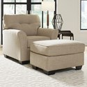 Benchcraft Ardmead Chair & Ottoman - Item Number: 8300420+14