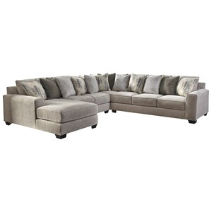 Benchcraft Ardsley Contemporary 5 Piece Sectional With