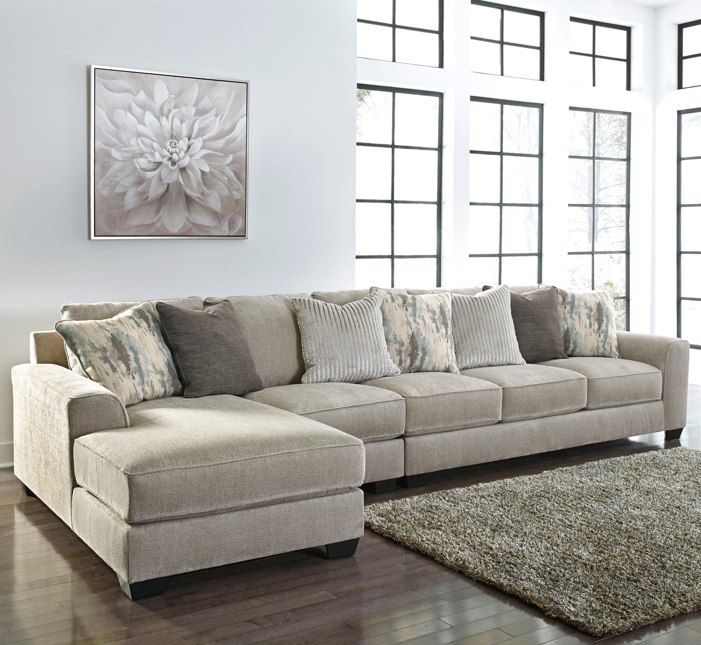 Ardsley 3-Piece Sectional with Left Chaise by Benchcraft at Miller Waldrop Furniture and Decor