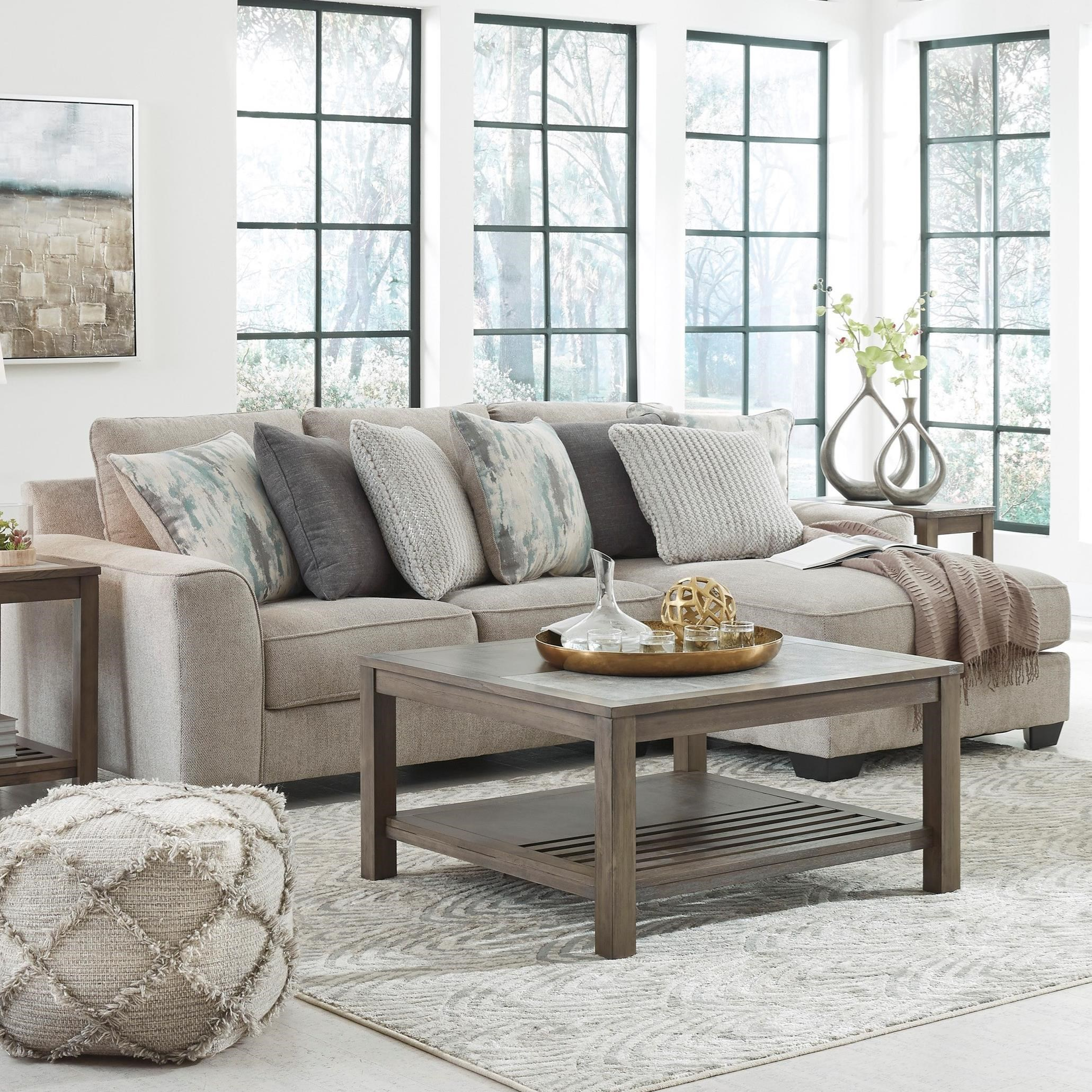 Ardsley 2-Piece Sectional with Right Chaise by Benchcraft at Carolina Direct