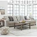 Benchcraft Ardsley 3-Piece Sectional with Right Chaise - Item Number: 3950455+46+17