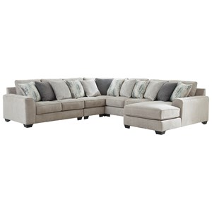 5-Piece Sectional with Right Chaise