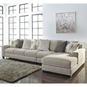 Signature Design By Ashley Ardsley 3-Piece Sectional with Right Chaise - Item Number: 3950466+46+17