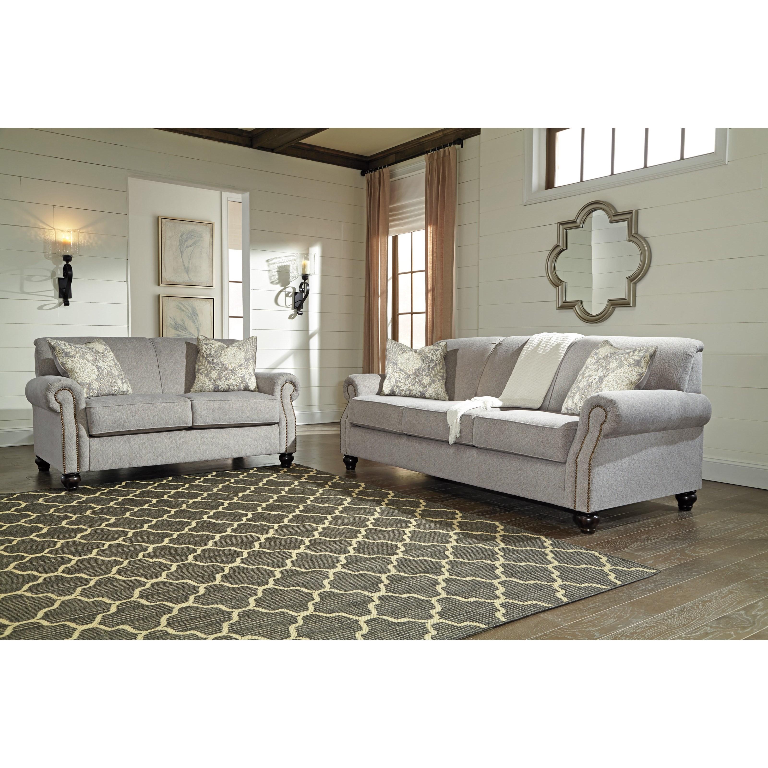 Benchcraft Avelynne Stationary Living Room Group - Item Number: 81302 Living Room Group 1