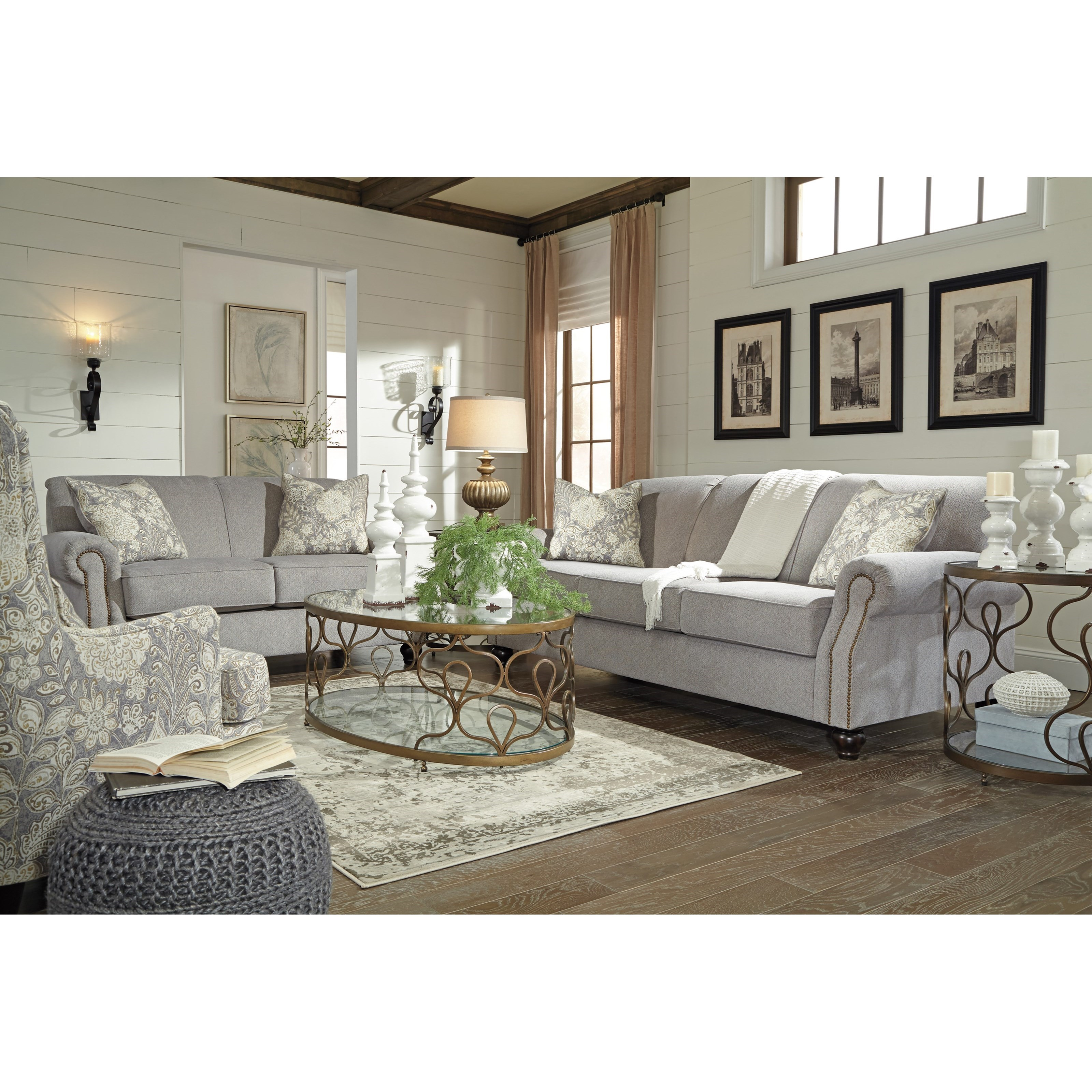 Benchcraft Avelynne Stationary Living Room Group - Item Number: 81302 Living Room Group 2