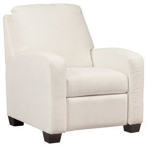 Benchcraft Ayanna Nuvella Low Leg Recliner