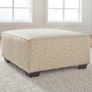 Benchcraft Ayanna Nuvella Oversized Accent Ottoman