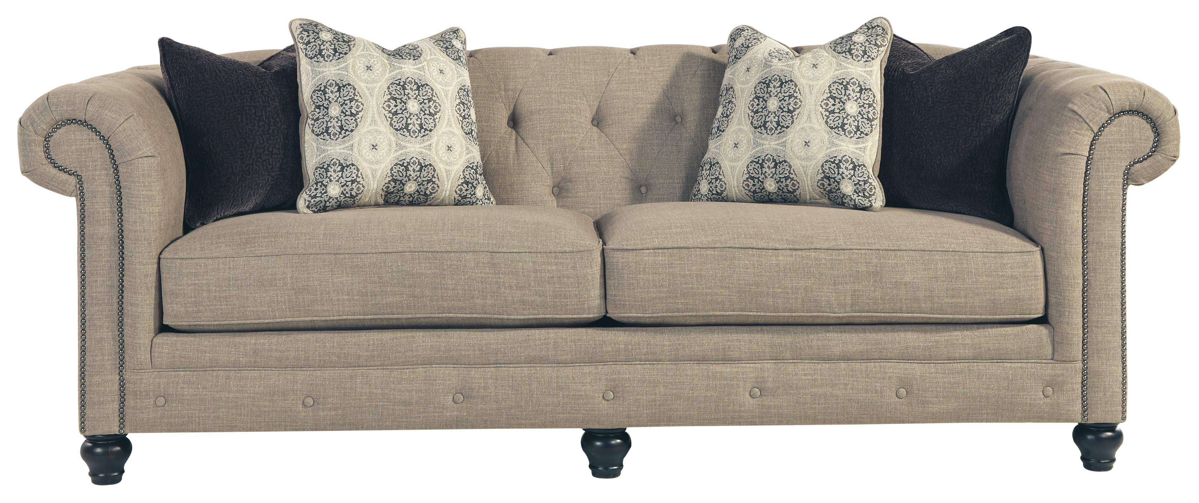Benchcraft Azlyn Transitional Chesterfield Sofa with Linen Blend