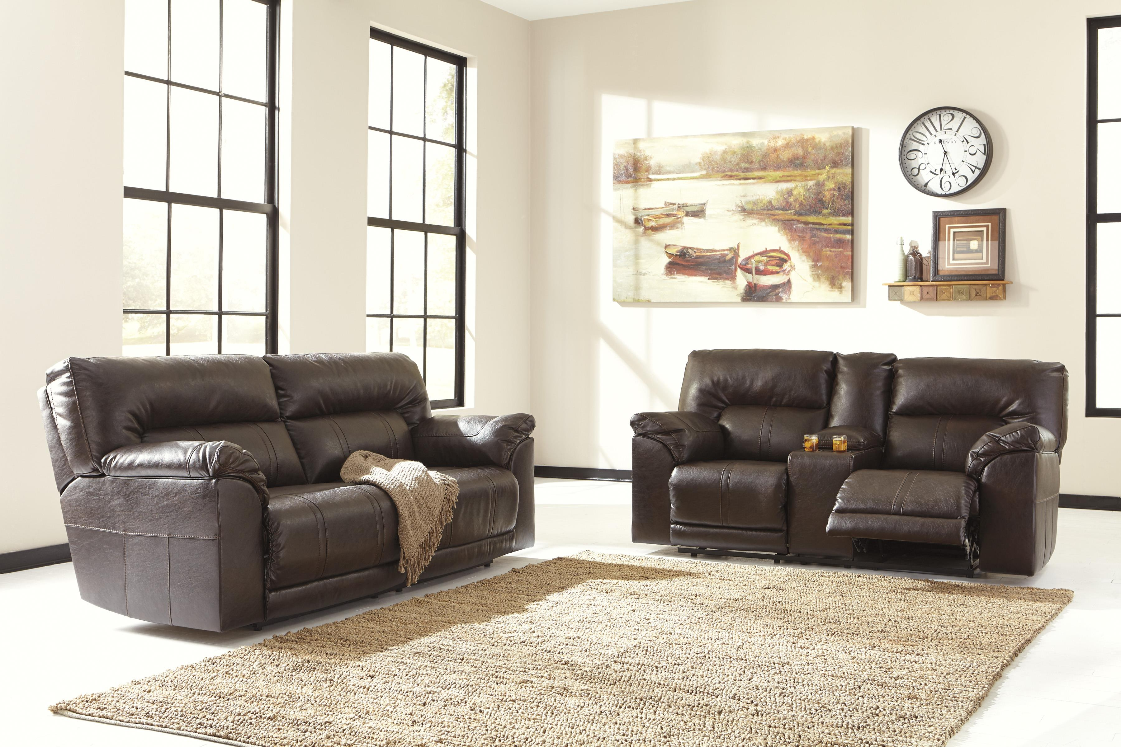 Benchcraft Barrettsville DuraBlend® Reclining Living Room Group - Item Number: 47301 Living Room Group 1