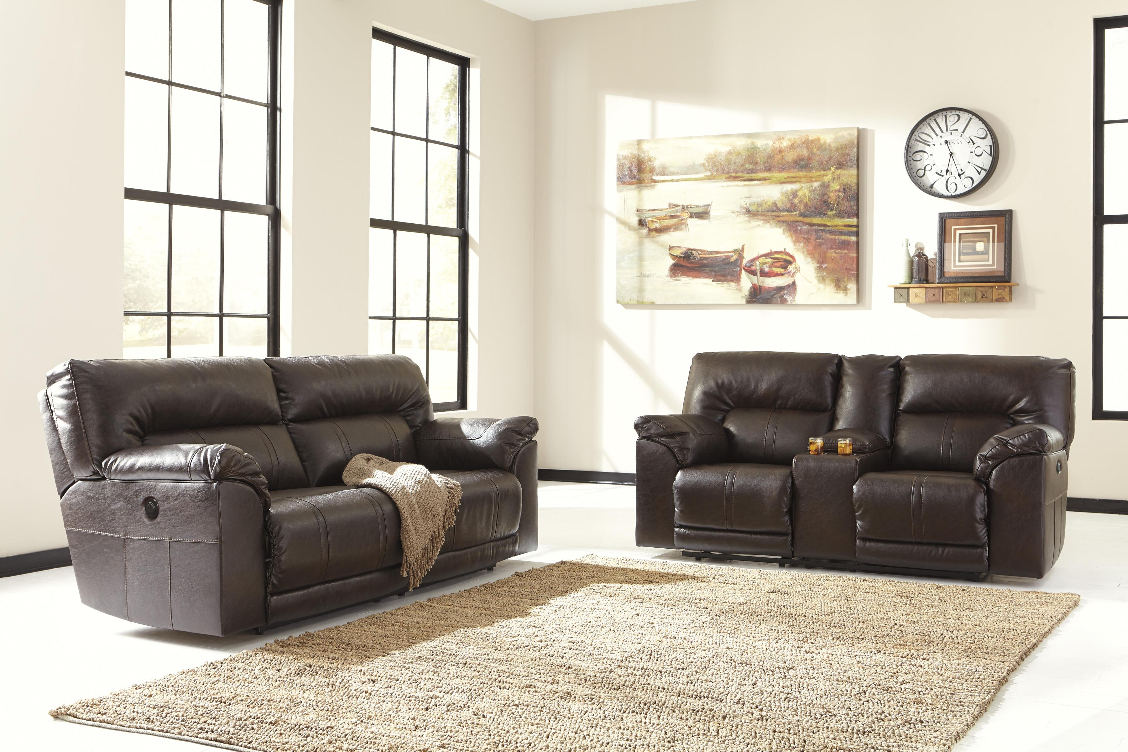 Benchcraft Barrettsville DuraBlend® Reclining Living Room Group - Item Number: 47301 Living Room Group 2