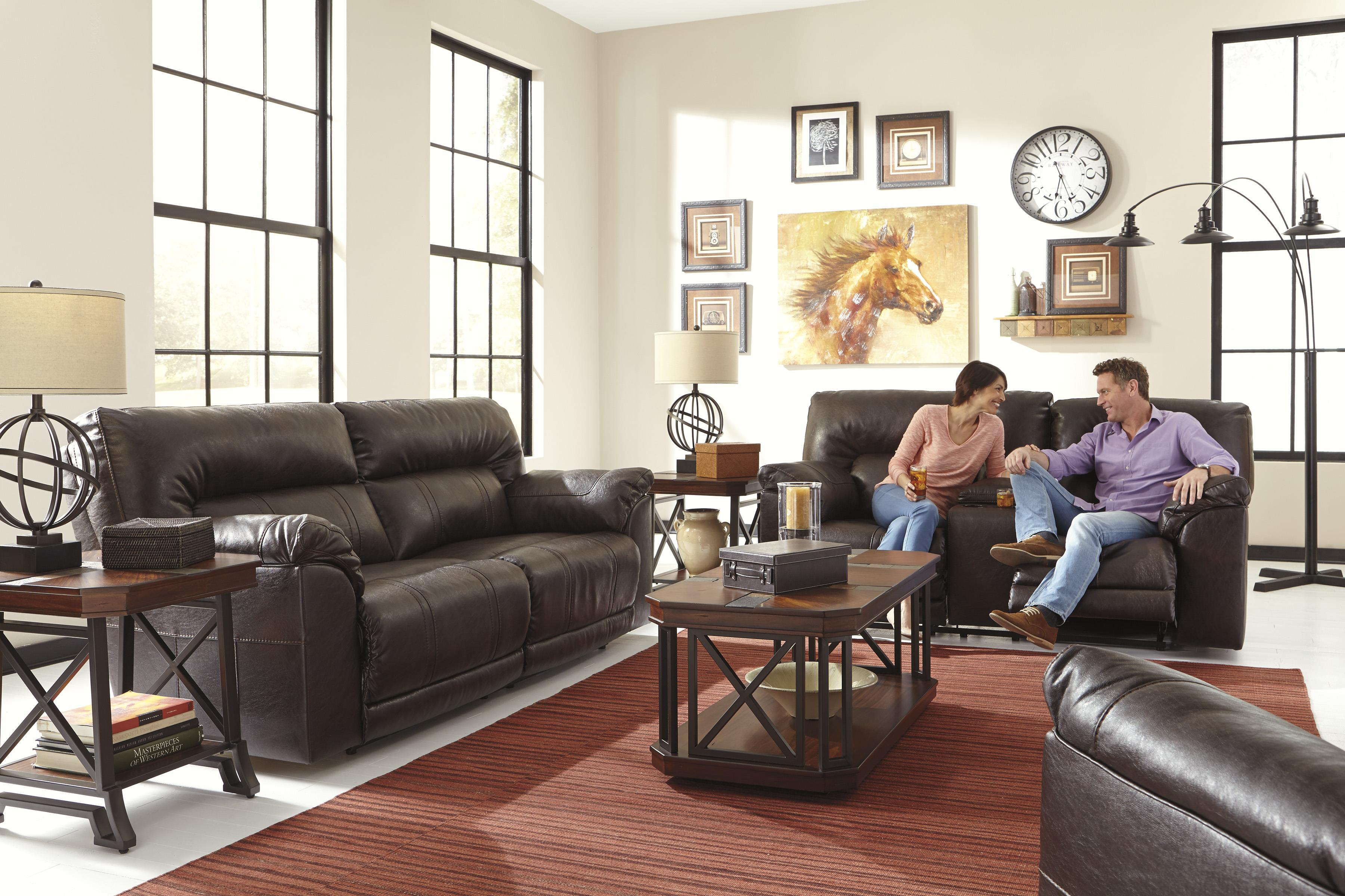 Benchcraft Barrettsville DuraBlend® Reclining Living Room Group - Item Number: 47301 Living Room Group 3