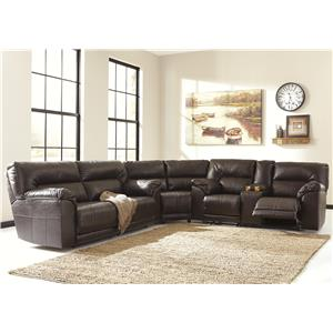 Benchcraft by Ashley Barrettsville DuraBlend® 3-Piece Reclining Sectional