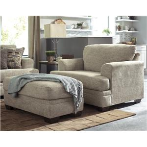Ashley Barrish Chair and a Half & Ottoman