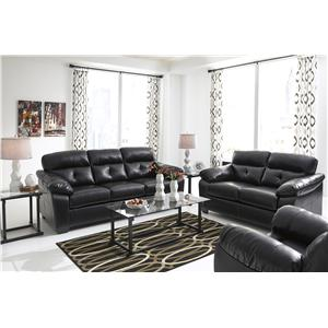 Benchcraft Bastrop DuraBlend - Midnight Stationary Living Room Group