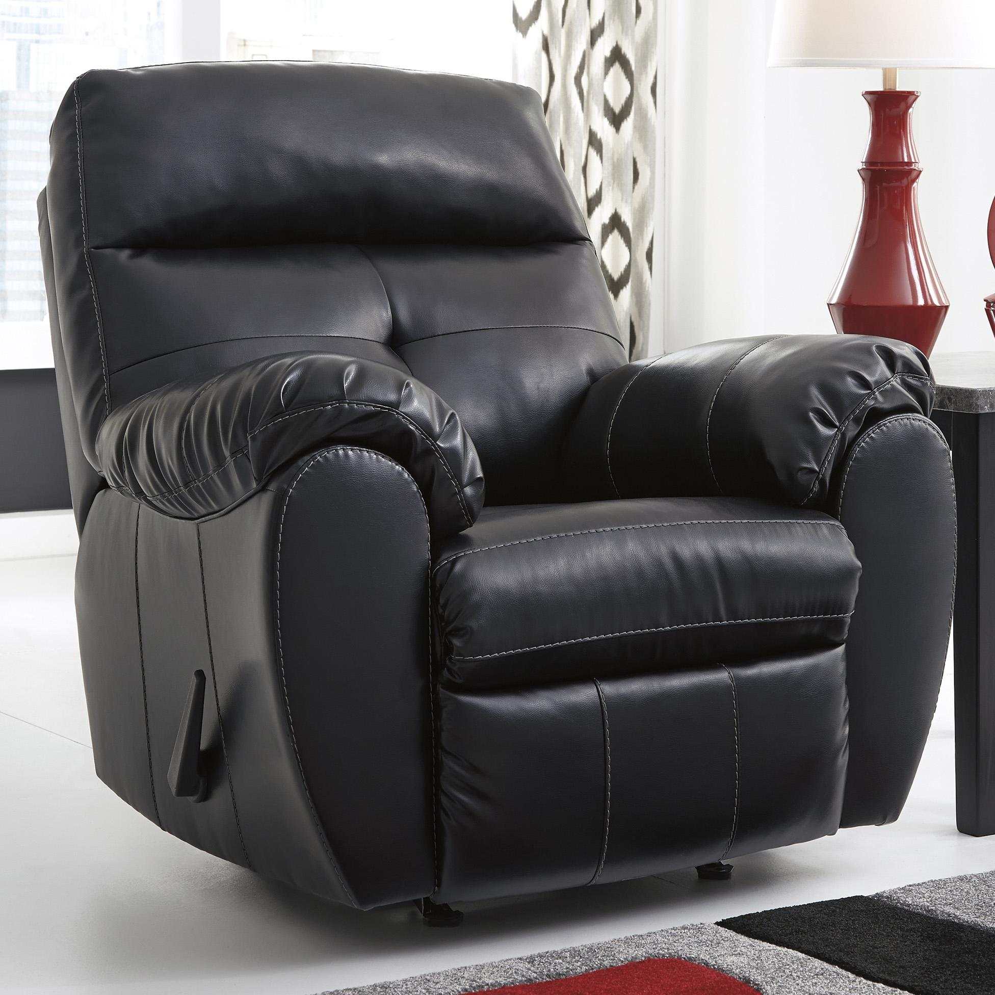 Benchcraft Bastrop DuraBlend - Midnight Rocker Recliner - Item Number: 4460125