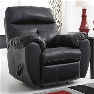 Ashley/Benchcraft Bastrop DuraBlend - Midnight Rocker Recliner