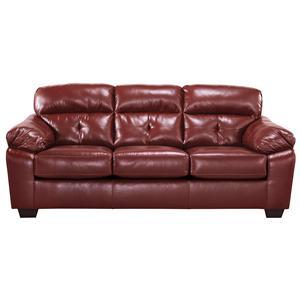 Benchcraft Bastrop DuraBlend - Crimson Sofa