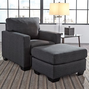 Benchcraft Bavello Chair U0026 Ottoman